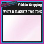 15M X 1524mm VEHICLE CAR VAN WRAP STYLING GRAPHICS WHITE & MAGENTA TWO TONE